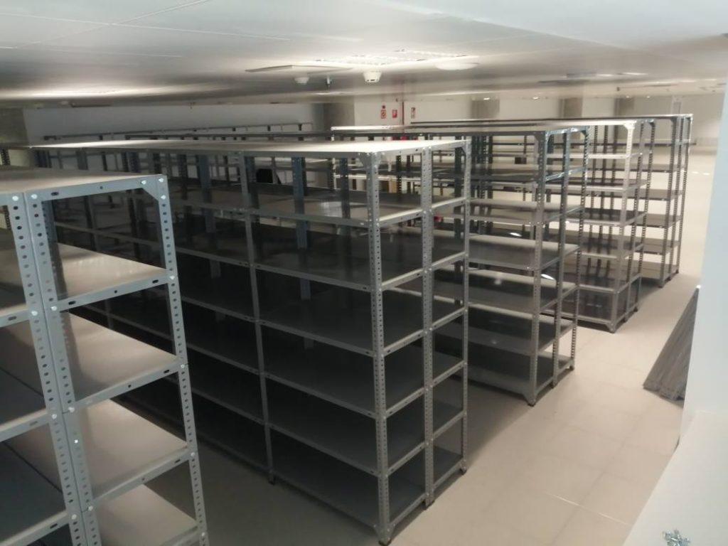 Instalacion estanterias de archivo documental tecnioficina - mobiliario de oficina