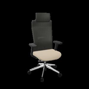 silla Tnk direccion alto - base pulida asiento beige t70